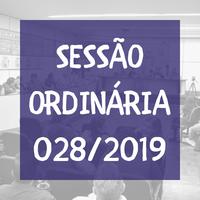 Confira a Ordem do Dia da Sessão Ordinária nº 028/2019