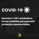Novas medidas foram tomadas no município através do Decreto nº 051