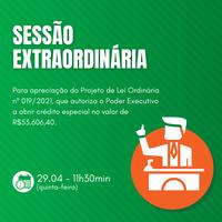 Sessão Extraordinária nº 003/2021