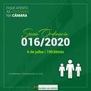 Sessão Ordinária nº 016/2020
